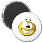 Smiley jaune maladroit magnets pour réfrigérateur