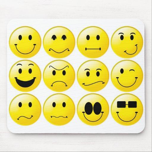 Smiley jaunes tapis de souris