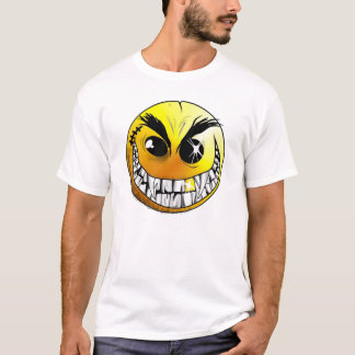 Smiley mauvais t-shirt