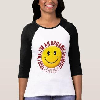 Smiley organique de confiance de chimiste t-shirt