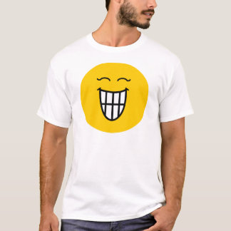 Smiley riant avec le sourire toothy t-shirt