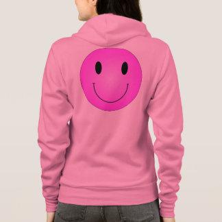 Smiley rose veste à capuche