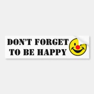 Smiley rouge de nez - jaune + vos idées autocollant de voiture