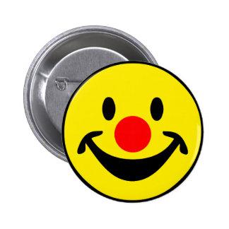 Smiley rouge de nez - jaune + vos idées pin's