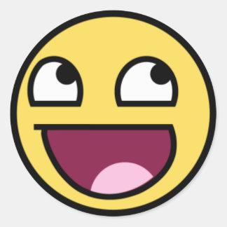 Smiley Sticker Rond