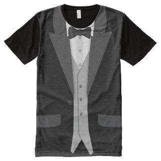 Smoking noir Bowtie et gilet T-shirt Tout Imprimé