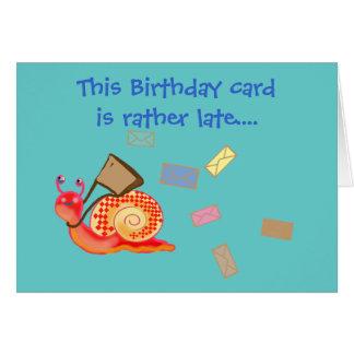 Snail mail - carte d'anniversaire en retard