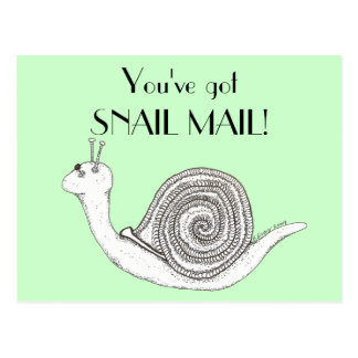Snail mail cartes postales
