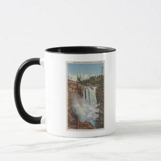 Snoqualmie tombe, WA - vue des automnes en haut Mugs