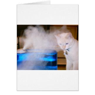 """""""Snowball dans la brume """" Carte De Vœux"""