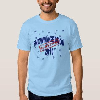 snowmageddon 2010 t-shirts