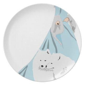 snowqueen assiettes en mélamine