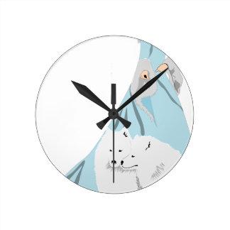 snowqueen horloge ronde