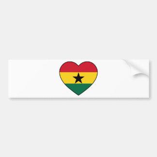 Soccer de Ghana Heart Autocollant De Voiture