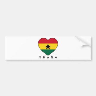 Soccer de Ghana Heart «GHANA» - coeur Adhésif Pour Voiture