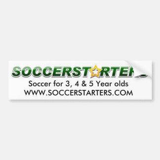 soccerstarterslogo, le football pour l'ol de 3, 4  autocollant pour voiture