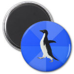 Social-Maladroit-Pingouin-Meme Aimant Pour Réfrigérateur