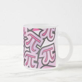 Social rose de pi - cadeaux de pi - maths pi mug en verre givré