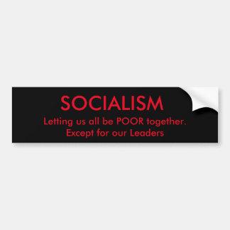 Socialisme et politiciens autocollant de voiture
