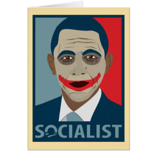 Socialiste de joker d'Anti-Obama Carte De Vœux