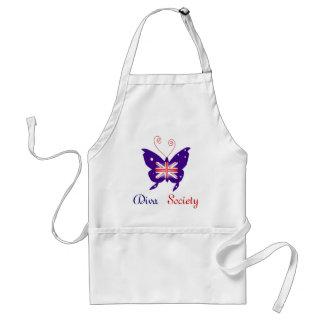 Société britannique de papillon de diva tabliers