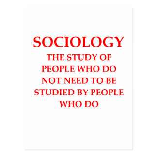 sociologie carte postale
