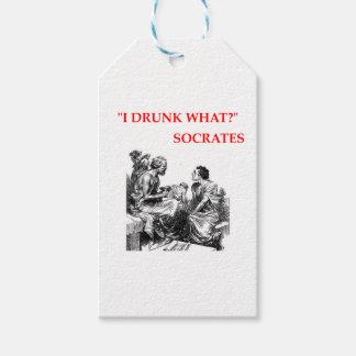 Socrates Étiquettes-cadeau
