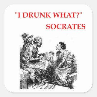 Socrates Sticker Carré
