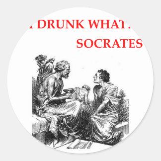 Socrates Sticker Rond