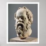 Socrates, tête de marbre, copie d'un bronze de poster