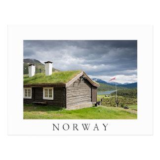 Sod le cabine de rondin de toit en carte postale