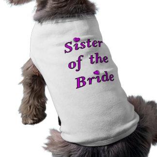 Soeur de jeune mariée de l'amour simplement t-shirt pour chien