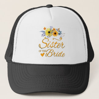 Soeur florale d'aquarelle du T-shirt de jeune Casquette