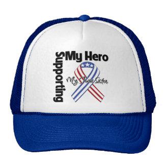 Soeur jumelle - militaires soutenant mon héros casquette de camionneur