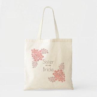 Soeur rose de corail de ketmie de jeune mariée tote bag