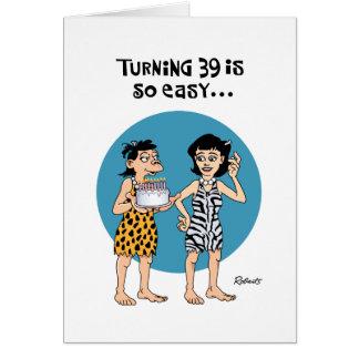 Soeur tournant la salutation de 39 anniversaires cartes