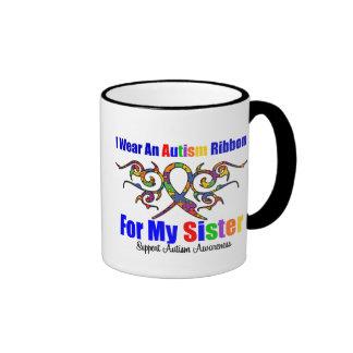 Soeur tribale de ruban d'autisme mug
