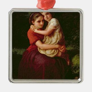 Soeurs, 1868 ornement carré argenté