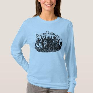 Soeurs bleues de bleuet du T-shirt de danse