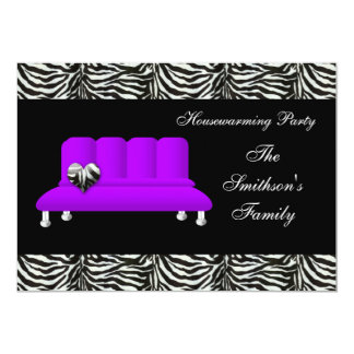 sofa pourpre chic, invitation de partie