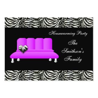 sofa pourpre chic, invitation de partie