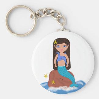 Sofia le porte - clé de sirène porte-clé rond
