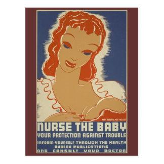 Soignez l'affiche de WPA de bébé Carte Postale