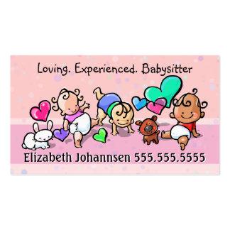 Soin de Babysitting.Childcare.Day. Texte/couleur Carte De Visite Standard