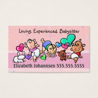 Soin de Babysitting.Childcare.Day. Texte/couleur Cartes De Visite