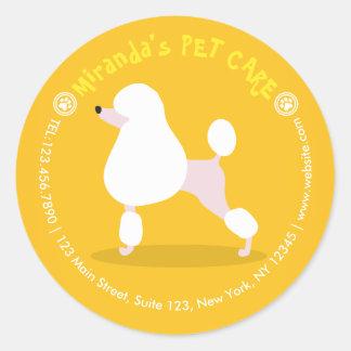 Soin des animaux familiers adorable d'illustration sticker rond