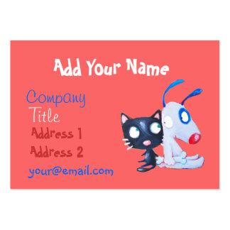 soin des animaux familiers, amoureux des chats, carte de visite grand format