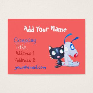 soin des animaux familiers, amoureux des chats, cartes de visite