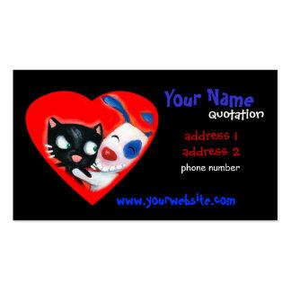 soin des animaux familiers, vétérinaires, amoureux modèle de carte de visite
