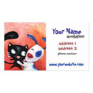 soin des animaux familiers, vétérinaires, amoureux carte de visite standard